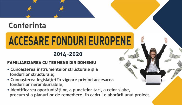 """SLIDER Conferinta – ,,Avantajele şi dezavantajele accesării fondurilor Europene"""""""